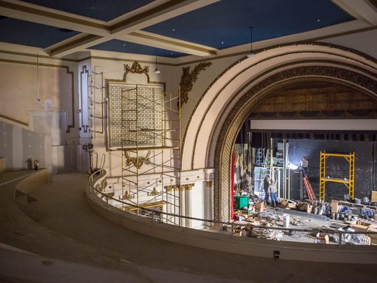 Workers continue renovation on Nov. 15 in the main