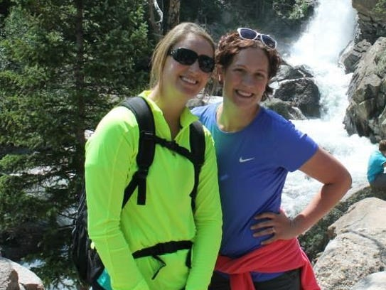 Megan James, left, and Lacey Carter vowed to run a