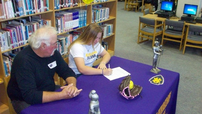 North Henderson senior Cheyenne Mathews has signed to play softball for Mississippi College.