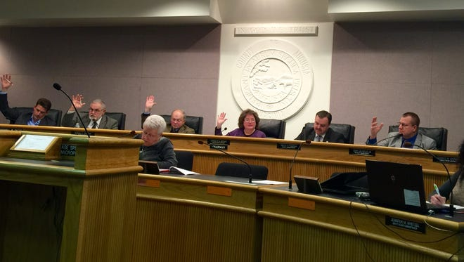 Augusta County Board of Supervisors vote to pass a motion.