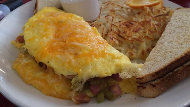 The Denver Omelet at Leany's Steakhouse at The Grand Lodge at Brian Head is filled with smoked ham, gouda, sweet red onions and chilis.