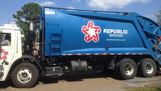 Republic Services could take over curbside residential recycling if the Lafayette City-Parish Council agrees Tuesday.