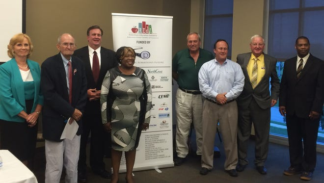 Candidates running for each of the four school board seats on the ballot this August took part in a candidate forum at Highland Crest College on Thursday, July 14, 2016.
