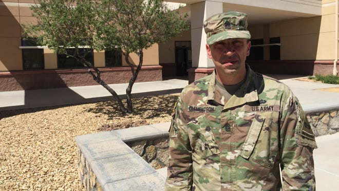 Command Sgt. Maj. Tom Clementson is the new senior enlisted leader for the 24th Press Camp Headquarters, which is located in the Division Artillery footprint at Fort Bliss.