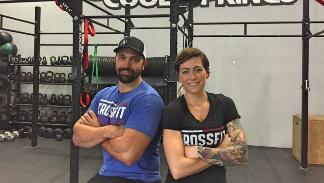 James Hurlburt, owner, and Kristina Hurlburt, general manager at CrossFit Cool Springs.