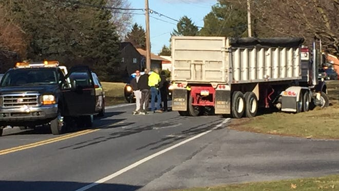A crash involving a tractor-trailer and at least two other vehicles had a section of Evergreen Road in South Lebanon closed to traffic for about 3 hours Monday, March 5, 2018.