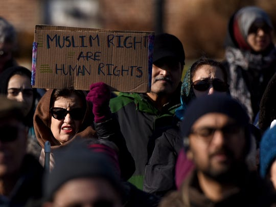 A rally was held Sunday in Teaneck in opposition of