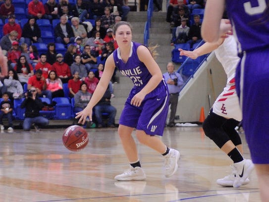 Wylie guard Lauren Fulenwider (25) waits for a play