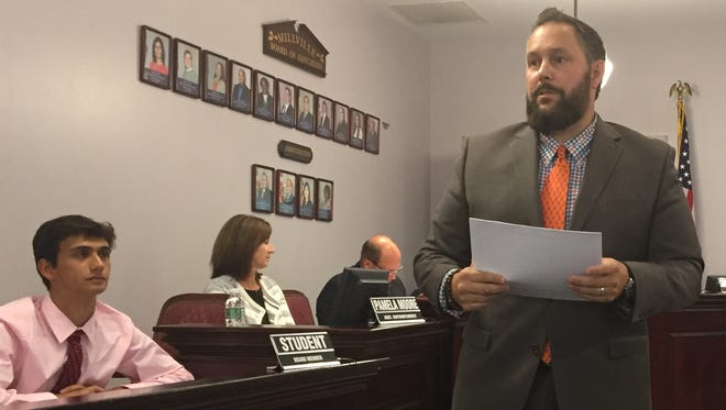 The Millville Board of Education meeting Monday night had lighter moments, including Superintendent David Gentile as master of ceremonies for a staff recognition program.