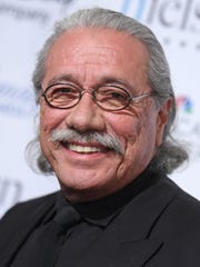 Edward James Olmos arrives at the 30th annual Imagen Awards at the Dorothy Chandler Pavilion on Friday, Aug. 21, 2015, in Los Angeles. (Photo by Richard Shotwell/Invision/AP)