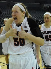 Former Mt. Juliet standout Sally McCabe posted a double-double (11 points/12 rebounds) in Belmont's win over Jacksonville State in the OVC Tournament semifinals Friday.