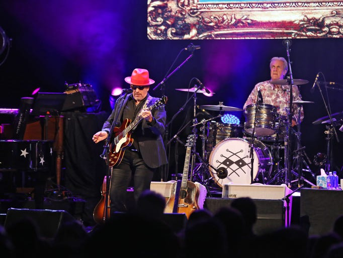 Elvis Costello and the Imposters performed at the Riverside
