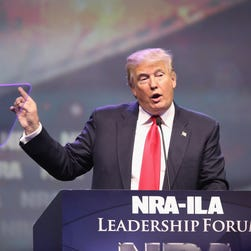 The NRA Political Victory Fund is running ads backing Donald Trump.