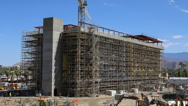 The Kimpton Hotel is the largest structure in the downtown Palm Springs redevelopment project, August 18, 2016. The hotel will be known as The Rowan.