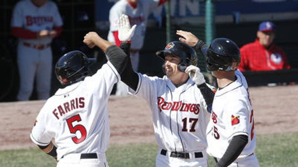 Doug Bernier homered in the Frontier Field opener on April 6, and he's still tied for the team lead.