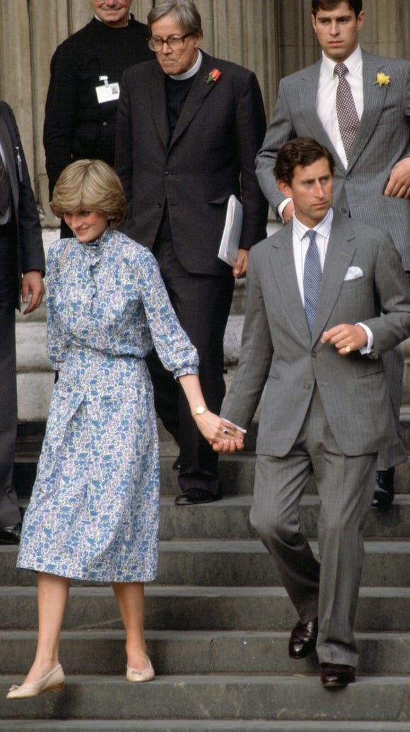 Prince Charles and Lady Diana Spencer after wedding