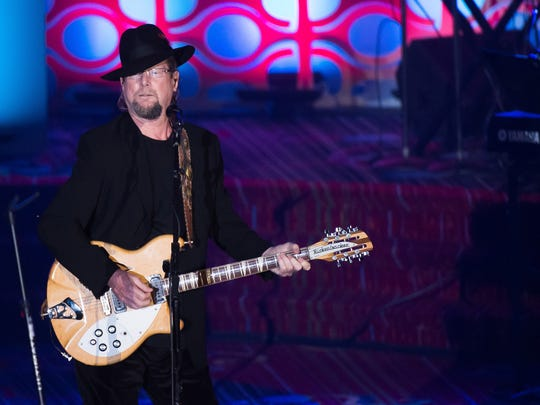 Roger McGuinn performs at the 47th Annual Songwriters Hall of Fame Induction Ceremony and Awards Gala at the Marriott Marquis Hotel on Thursday, June 9, 2016, in New York. (Photo by Charles Sykes/Invision/AP)