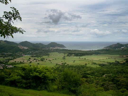 A view from the mountains to the coast in Nicaragua.