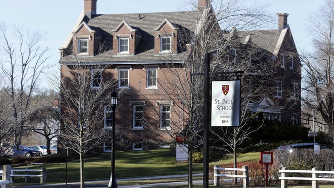 The entrance to St. Paul's School in Concord, N.H., is seen in 2016. A former student detailed her account of sexual assault in the 1990s at the New Hampshire boarding school in a recent Vanity Fair article, and school officials commended her for speaking out.