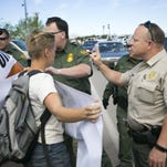 Protesters rally against Border Patrol checkpoint