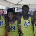 Northwest's 4x100 relay that won a state title at the Division I state meet, from left: Myles Pringle, Jordan Booker, Malik Beverly and DeVohn Jackson.