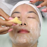 Step 1: Use mild cleanser to remove makeup and oil.