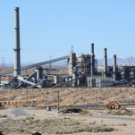 The Reid-Gardner coal-fired plant adjacent to the Moapa River Indian Reservation.