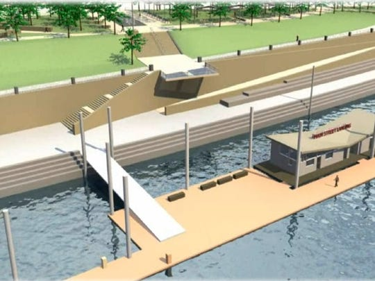 A rendering of the $3.6 million marina proposed by Cincinnati Parks.