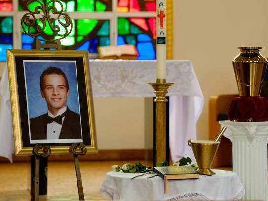 A memorial Mass for Richard Shoop, 20 of Teaneck who