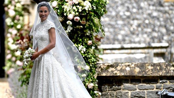 Pippa Middleton arrives for her wedding to James Matthews, May 20, 2017.