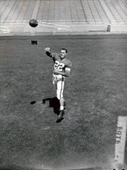 A young backup quarterback in '54, Milt Plum went on to Pro Bowl notoriety in the NFL. He set a league record (now broken) by throwing 208-straight passes without an interception.