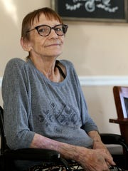 Vicki Pillow, who was hit by a bus, is photographed