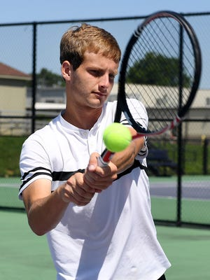 All-West Tennessee Boys' Tennis Player of the Year Trinity Christian Academy's Ben Sidwell