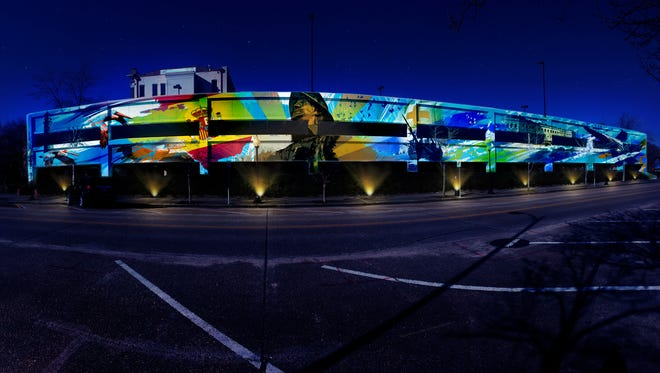 Local artists Ashton Howard and Evan Levin are proposing to paint a colorful mural on the Jefferson Street parking garage in downtown Pensacola.