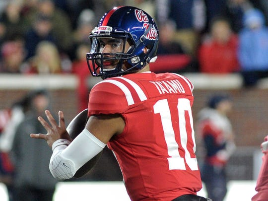 Nov 18, 2017; Oxford, MS, USA; Mississippi Rebels quarterback