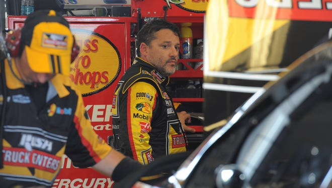 NASCAR driver,  Tony Stewart   Friday June 27, 2014 at Kentucky Speedway in Sparta Ky. Speedway
