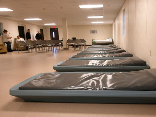 Beds on the men's side of  the new Sobering Center are pictured Friday as the facility prepares for its opening on Monday.
