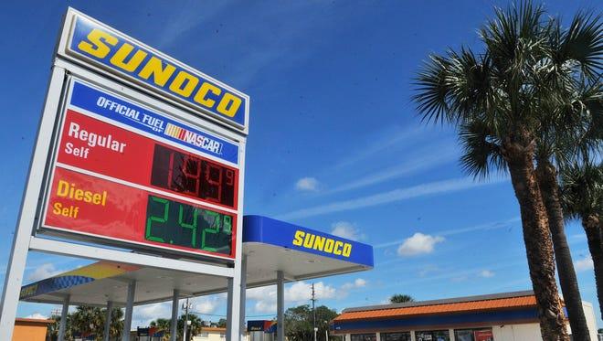 Gas prices are sustaining their dip below $2 a gallon around Brevard County.
