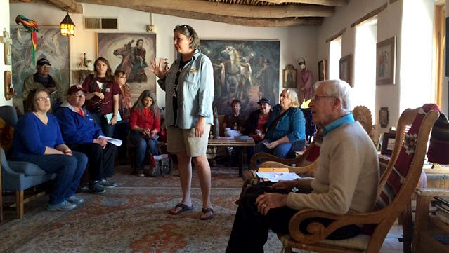 "A ""Teacher's Write"" professional development series event was recently held at the home of J. Paul Taylor, right."