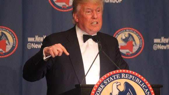 Donald Trump speaks at the 2016 NYS GOP Annual Gala at the New York Grand Hyatt April 13, 2016.