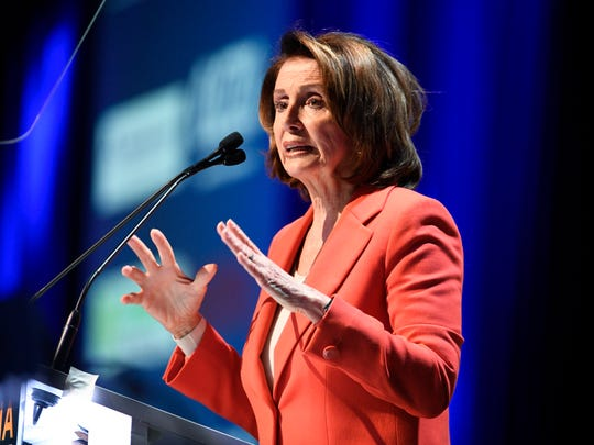 House Minority Leader Nancy Pelosi speaks Saturday at the California Democratic Party state convention in San Diego.
