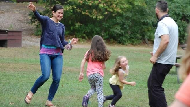 Families get to dance along with their girls at the Girl Scout Animal Dance Party.