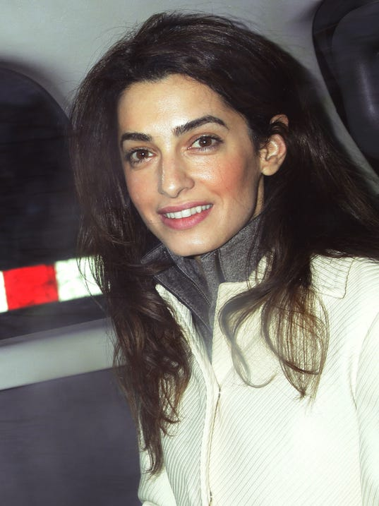 AP Britain George Clooney Engagement