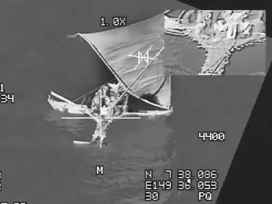 20 EBS Aid in Rescue off Coast of Guam