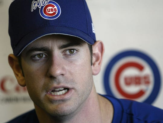 From 2004: Mark Prior during a press conference at Sec Taylor Stadium before a start for the Iowa Cubs.