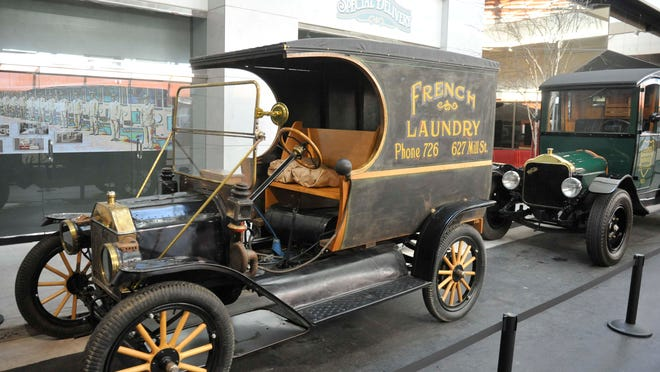 A 1912 Ford Model T, once used as a delivery vehicle for the Reno-based French Laundry, on display at the National Automobile Museum.