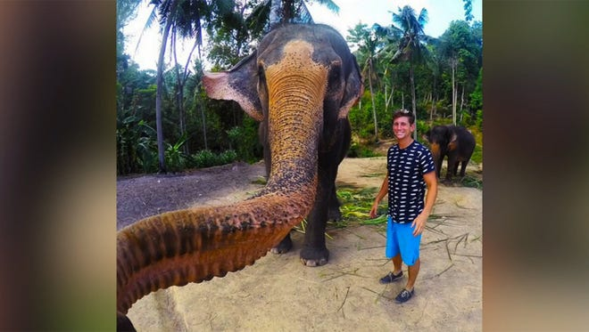 Christian LeBlanc got the selfie of a lifetime when an elephant grabbed his GoPro and snapped a pic of the two of them together.