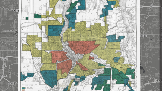 A Home Owners' Loan Corp. map of Rochester, complete