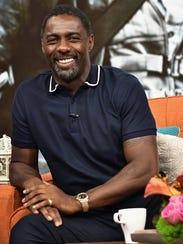 Idris Elba is seen on the set of 'Despierta America'