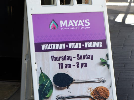 Maya's South Indian Cuisine in downtown Reno's West Street Market serves lunch Thursday through Sunday in the same space that houses Thali restaurant.